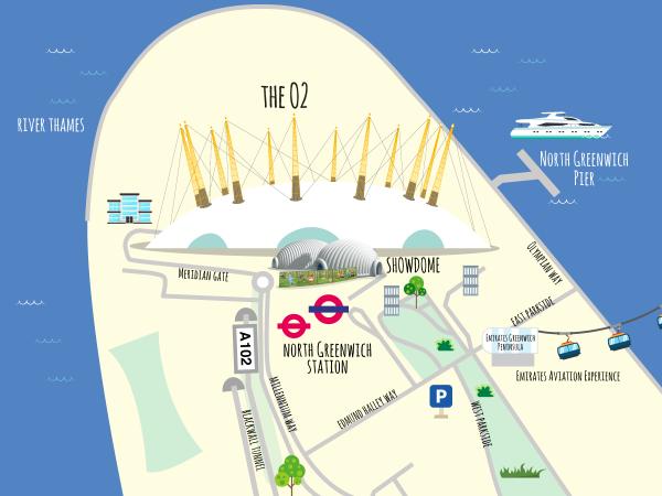 2018 venue Maps TheO2