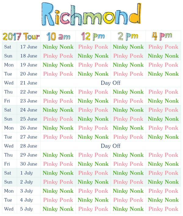 show schedule RICHMOND